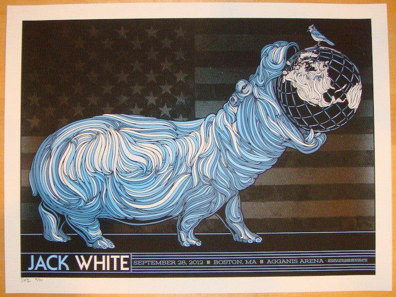 2012 Jack White - Boston Concert Poster by Todd Slater