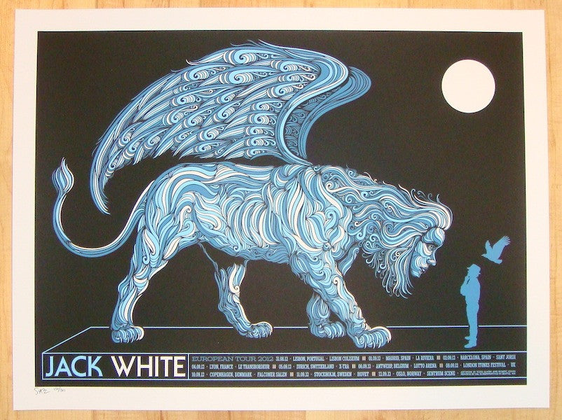 2012 Jack White - European Tour Concert Poster by Todd Slater