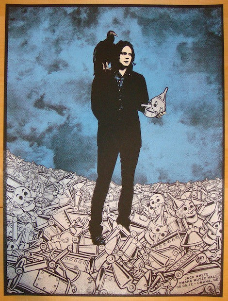 2012 Jack White - Omaha Silkscreen Concert Poster by Rob Jones