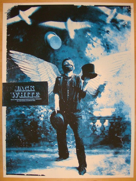 2012 Jack White - Portland Concert Poster by the Silent Giants