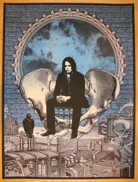 2012 Jack White - Red Rocks 2nd Concert Poster by Rob Jones