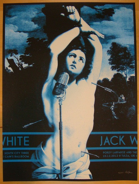 2012 Jack White - Tulsa Silkscreen Concert Poster by Rob Jones