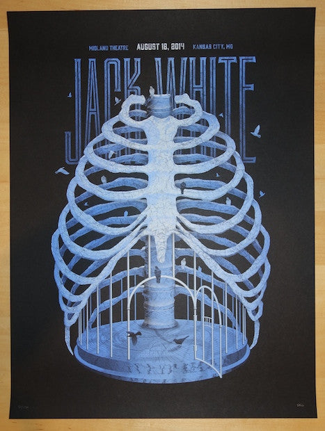 2014 Jack White - Kansas City Silkscreen Concert Poster by DKNG