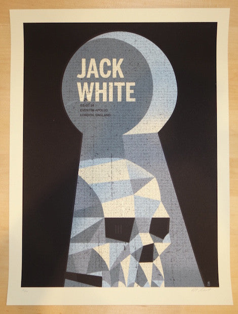 2014 Jack White - London Silkscreen Concert Poster by Methane