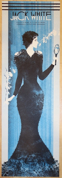 2014 Jack White - Miami III Silkscreen Concert Poster by the Silent Giants
