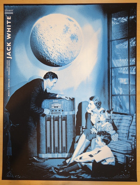 2014 Jack White - Seattle II Concert Poster by The Silent Giants
