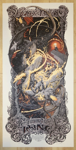 "2014 ""Fellowship of the Ring"" - Silkscreen Movie Poster by Aaron Horkey"
