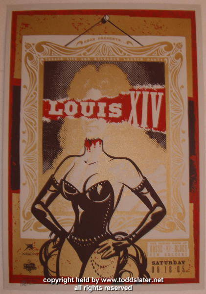 2005 Louis XIV - New Orleans Silkscreen Concert Poster by Todd Slater