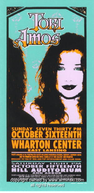 1994 Tori Amos - Crosses Poster by Mark Arminski (MA-009b)