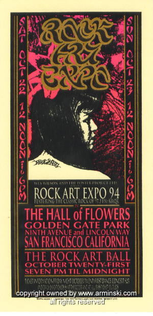 1994 Rock Art Expo Handbill by Mark Arminski (MA-010)