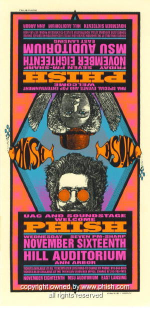1994 Phish Silkscreen Concert Poster by Mark Arminski (MA-012)
