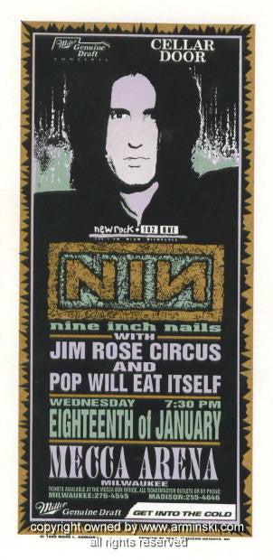 1995 Nine Inch Nails Milwaukee Poster by Mark Arminski (MA-019)