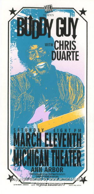 1995 Buddy Guy w/ Chris Duarte Poster by Mark Arminski (MA-024)