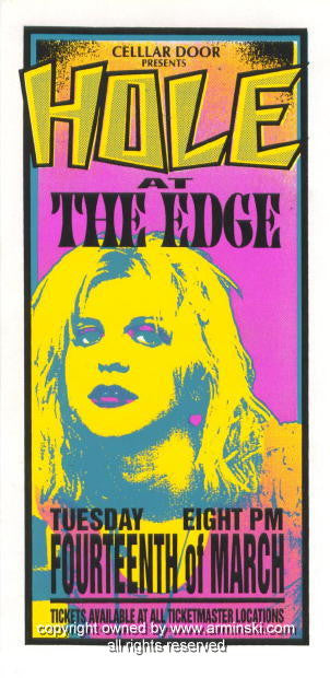 1995 Hole - Edge Concert Poster by Mark Arminski (MA-025)