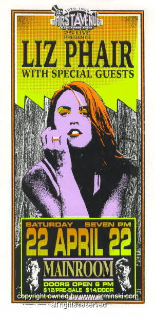 1995 Liz Phair Concert Handbill by Mark Arminski (MA-033)