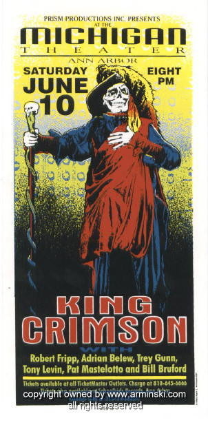 1995 King Crimson Silkscreen Concert Poster by Arminski (MA-037)