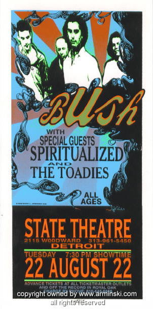 1995 Bush & the Toadies Concert Poster by Mark Arminski (MA-046)