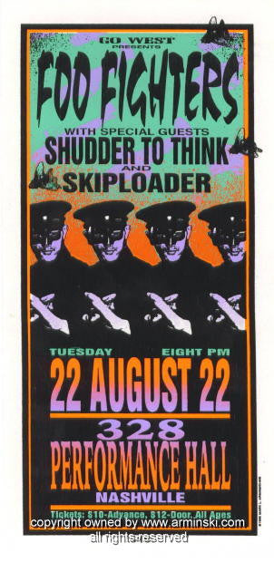1995 Foo Fighters Silkscreen Concert Poster by Arminski (MA-049)