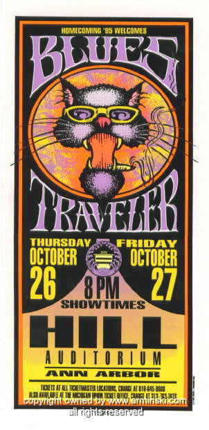 1995 Blues Traveler Concert Poster by Mark Arminski (MA-050)
