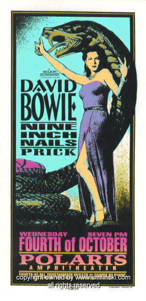 1995 David Bowie & Nine Inch Nails Handbill by Arminski (MA-051)