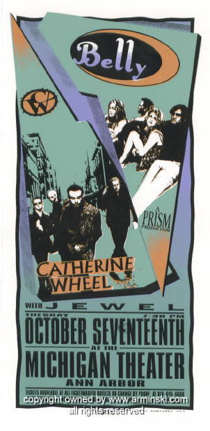 1995 Belly and Jewel Concert Handbill by Mark Arminski (MA-053)