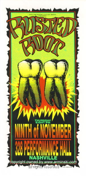 1995 Rusted Root Concert Poster by Mark Arminski (MA-054)