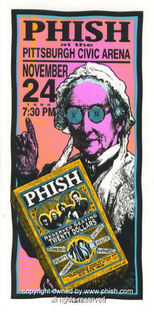 1995 Phish - Pittsburgh Concert Poster by Mark Arminski (MA-056)