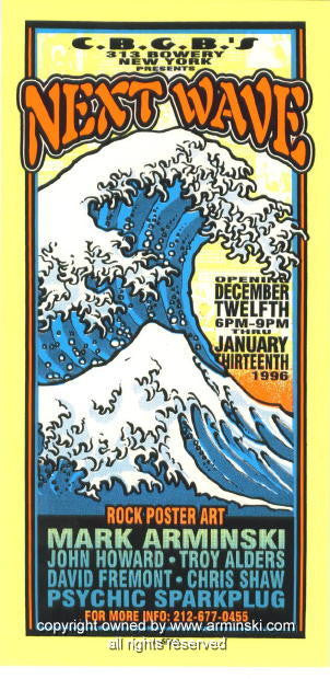1995 Next Wave Rock Poster Art Show Handbill Arminski (MA-061)