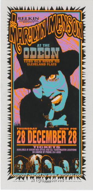 1995 Marilyn Manson - Odeon Concert Poster by Arminski (MA-062)