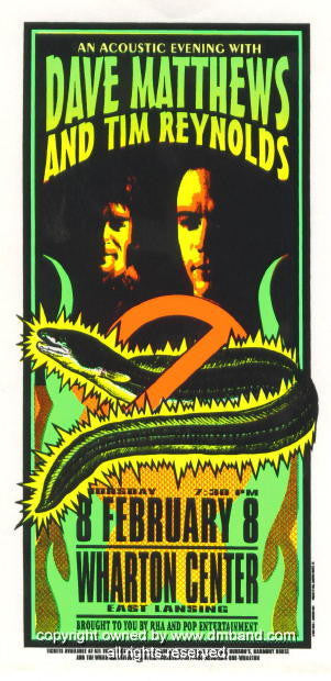 1996 Dave Matthews and Tim Reynolds Poster by Arminski (MA-9601)