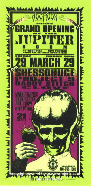 1996 Jupiter Room Art Exhibition Handbill by Arminski (MA-9607)