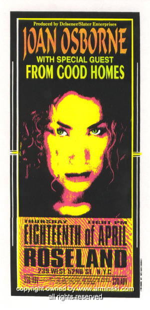 1996 Joan Osborne & From Good Homes Poster by Arminski (MA-9611)