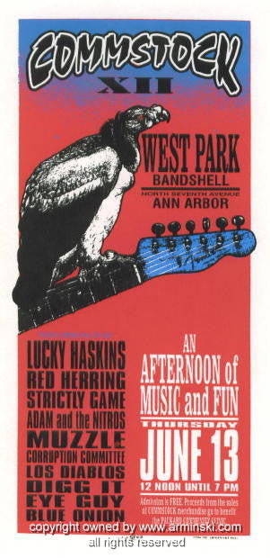 1996 Commstock XII Concert Poster by Mark Arminski (MA-9621)