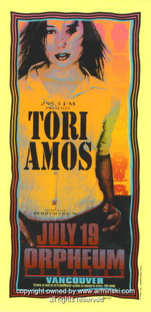 1996 Tori Amos -Yellow Concert Poster by Mark Arminski (MA-9623)