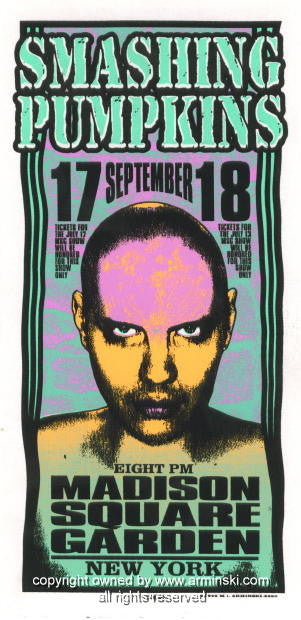 1996 Smashing Pumpkins Concert Poster by Mark Arminski (MA-9630)