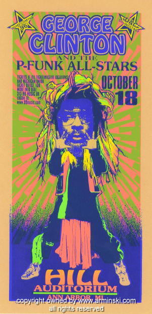 1996 George Clinton & the P-Funk Handbill by Arminski (MA-9633)