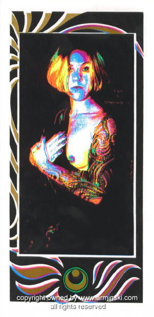 1996 Year End Nude Silkscreen Poster by Mark Arminski (MA-9640)