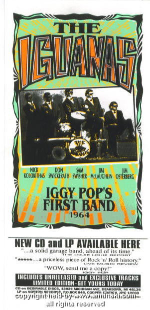 1997 The Iguanas CD Release Handbill by Arminski (MA-9701hbv)