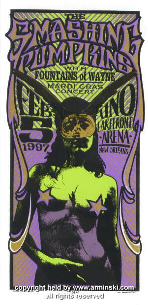 1997 The Smashing Pumpkins NOLA poster by Arminski (MA-9703)