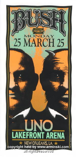 1997 Bush NOLA poster by Mark Arminski (MA-9706)