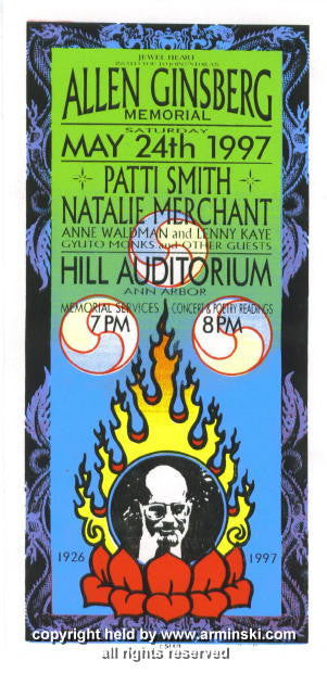 1997 Allen Ginsberg - Patti Smith Handbill by Arminski (MA-9716)