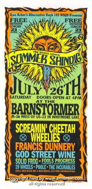 1997 2nd Annual Summer Shindig Handbill by Arminski (MA-9720)