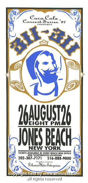 1997 311 at Jones Beach Poster by Mark Arminski (MA-9723)