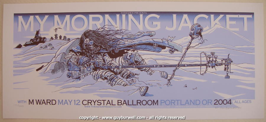 2004 My Morning Jacket Silkscreen Concert Poster by Guy Burwell
