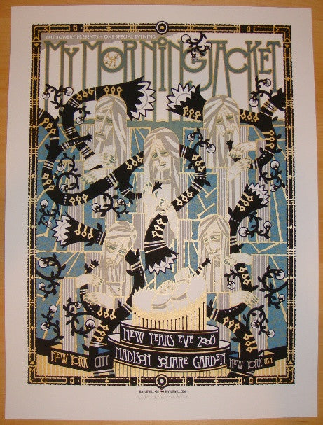 2008 My Morning Jacket - NYE Concert Poster by Guy Burwell