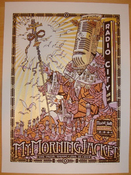 2008 My Morning Jacket - NYC 1st Concert Poster by Guy Burwell