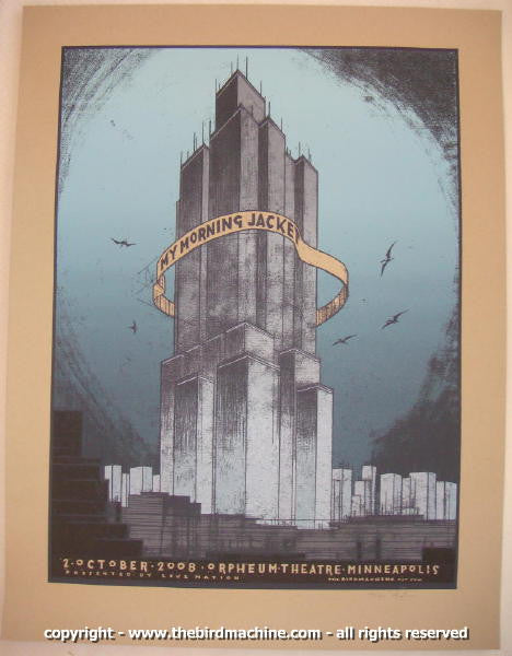 2008 My Morning Jacket - Minneapolis Concert Poster by Jay Ryan