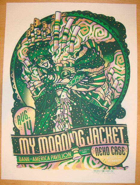 2011 My Morning Jacket - Boston Concert Poster by Guy Burwell