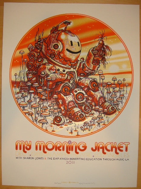 2011 My Morning Jacket - LA II Concert Poster by Guy Burwell