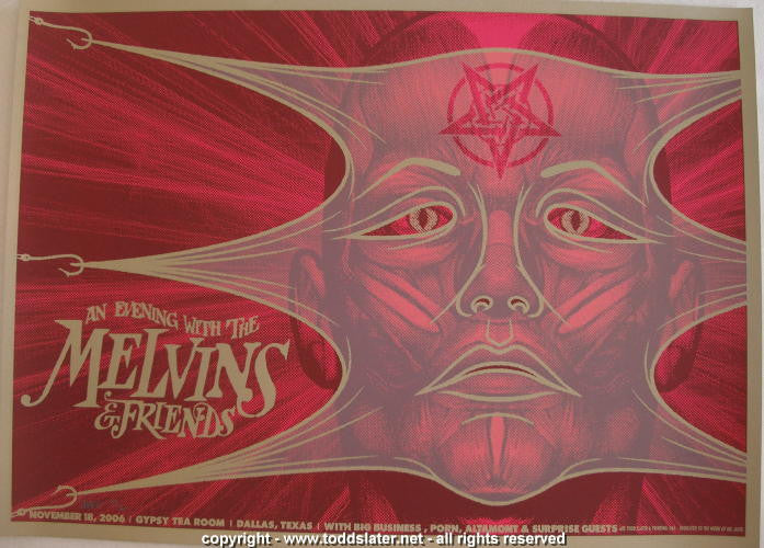 2006 The Melvins & Porn Silkscreen Concert Poster by Todd Slater